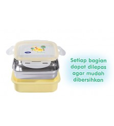 BabySafe Stainless Steel Lunch Box 270ml / tempat makan