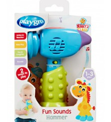 PlayGro Fun Sounds Hammer/mainan bayi/mainan anak import