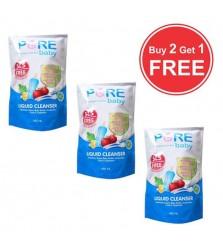 PureBaby liquid cleanser 450ml BUY 2 GET 1 FREE