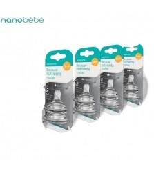 Nanobebe 2 dot silicone lembut isi 2pcs replacement nipple teat