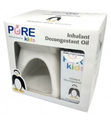 PureKids inhalant decongestant oil [isi2] dengan Tungku aromaterapy