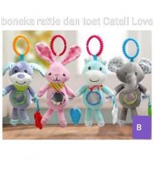 Mainan Anak Boneka Rattle dan toet Catell Love