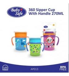 BabySafe Botol minum anak Sipper Cup 270ml 360 derajat
