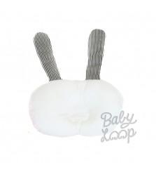 Baby Loop Bunny White Newborn pillow