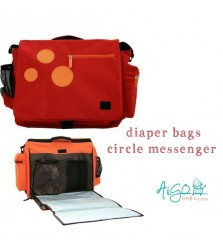 Diaper Bag Circle Messenger Style
