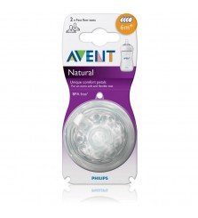 Avent Natural Teater Fast Flow 6M+ (Dot Bayi)