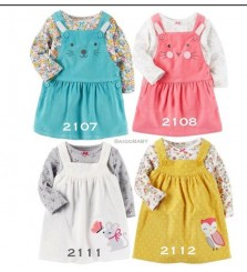 Baby dress carter over all for girl
