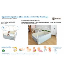 Ggumbi Indie Blue 12in1 Tranformation Bumper Bed