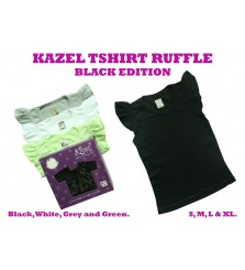 Kazel T-Shirt Ruffle Black Edition