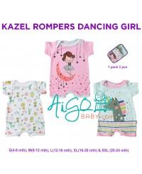Kazel Romper edisi Dancing girl isi 3pcs